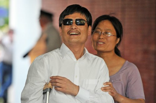Chen and his wife said their priority is ensuring a smooth transition to the U.S. for their two young children(Courtesy Mladen Antonov, AFP / Getty Images)