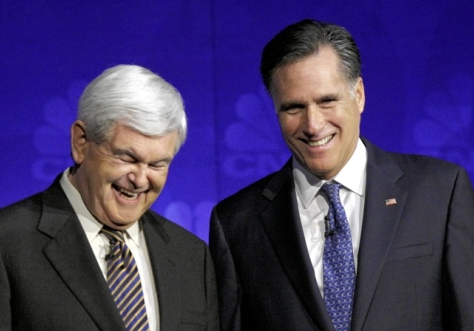 Romney and Gingrich saw their poll numbers rise as other candidates faced missteps and accusations (Photo courtesy of AP)