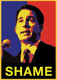 Recall efforts against Scott Walker began after he stripped labor unions of bargaining rights in 2011. (Courtesy Creative Commons/ NMBTCW)