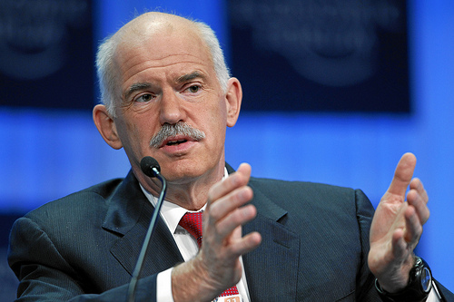 Greek Prime Minister George Papandreou at World Economic Forum Annual Meeting 2011 (photo courtesy of Creative Commons).