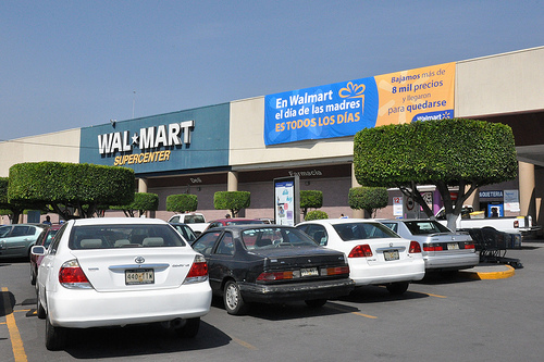 A Wal-Mart in Mexico City (photo courtesy of Creative Commons).