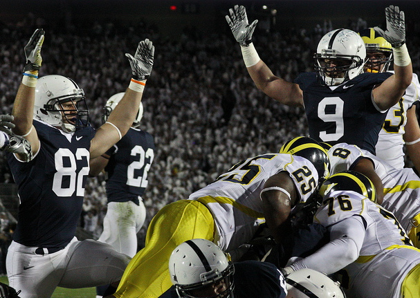 Penn State football players, photographed in 2010 (Creative Commons).