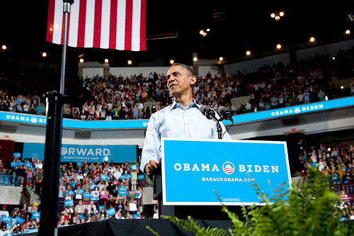 President Obama campaigning May 5, 2012 (photo courtesy of Creative Commons).