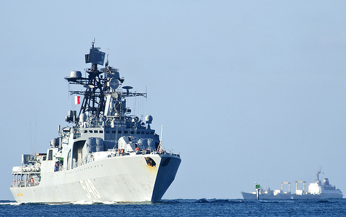 The Russian navy Udaloy-class destroyer RFS Admiral Panteleyev (BPK 548) arrives at Pearl Harbor to participate in the Rim of the Pacific (RIMPAC) exercise 2012 (Creative Commons).