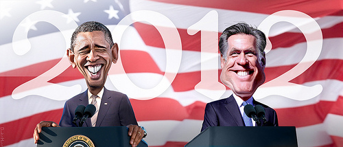 Obama and Romney (Creative Commons).
