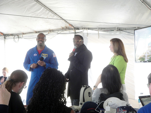 Astronaut Leland Melvin, will.i.am and NASA's Lori Garver (photo courtesy of Creative Commons).
