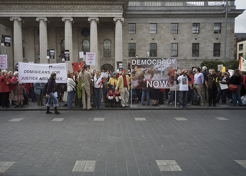 A 2007 protest on Burma's behalf in Dublin. Now citizens of Myanmar will be able to demonstrate on their own. (Flickr)