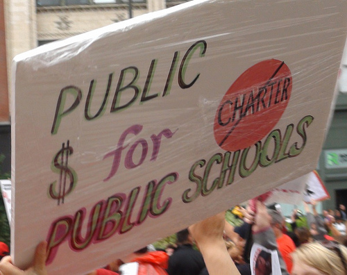 From Day 4 of the Chicago Teachers Union strike. (Flickr/Creative Commons)