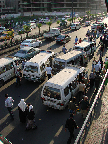 Morning traffic in Damascus on a far less tragic day. (Flickr)