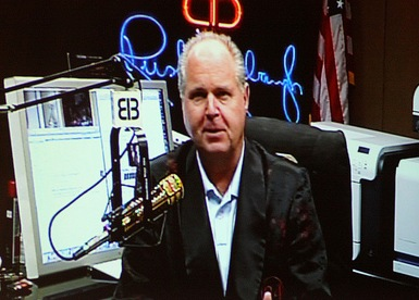 Limbaugh appeared via satellite at the CPAC conference in 2010, but now even GOP candidates are criticizing his actions. (Gage Skidmore/Flickr)
