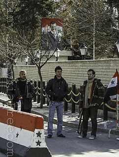 Syrian security forces in Damascus (Freedom House/Creative Commons)