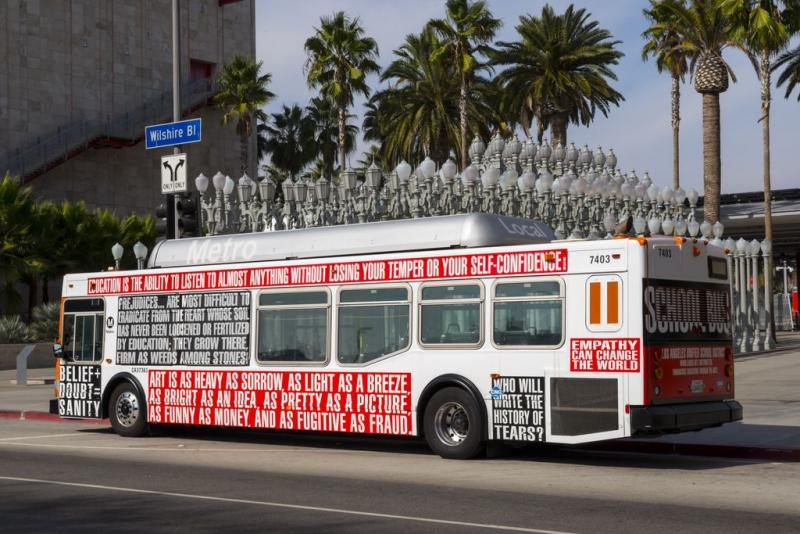 Barbara Kruger bus (Photo by L.A. Art Fund)