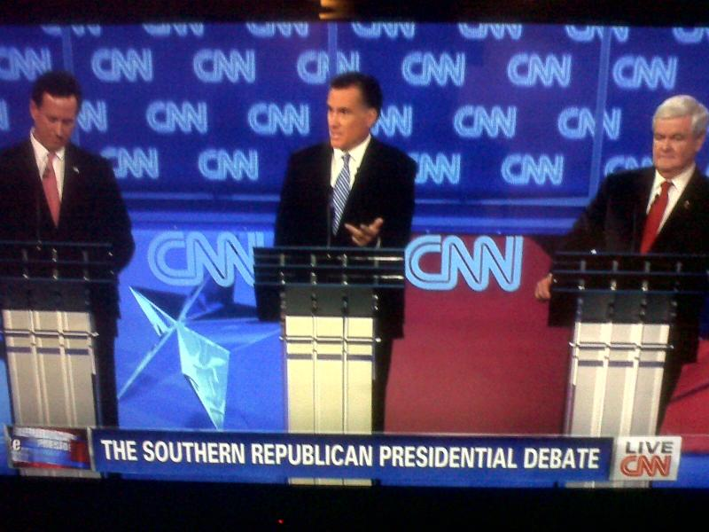 Screen Shot GOP Debate in South Carolina