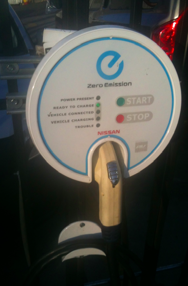 EV charger (Photo by Krista Levy)