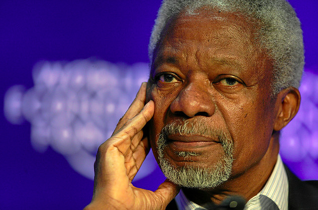 Kofi Annan will step down as peace envoy to Syria at the end of August (Creative Commons)