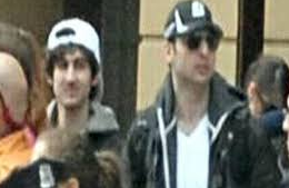 Boston boming suspect Tamerlan Tsarnaev (right) and his younger