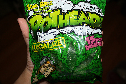 Anti-drug activists say Pothead Sour Gummy Candy trivializes drug use. (Creative Commons)
