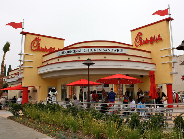 Chick-Fil-A in Hollywood. Image found on flickr. Owned by rudebigdog.