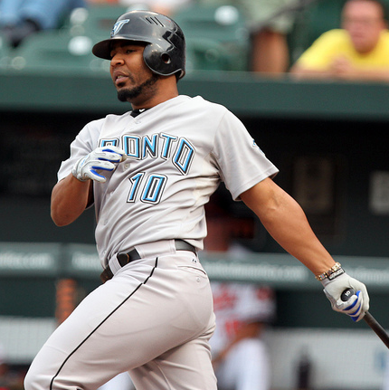 Toronto's Edwin Encarnacion and his 35 RBIs are for real. (Keith Allison/Creative Commons)