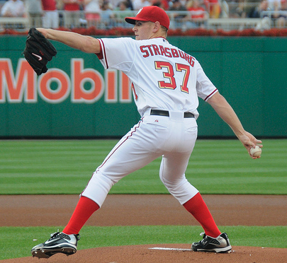 Stephen Strasburg has pitched great this year, but may sit out the postseason. (Scott Ableman/Creative Commons)