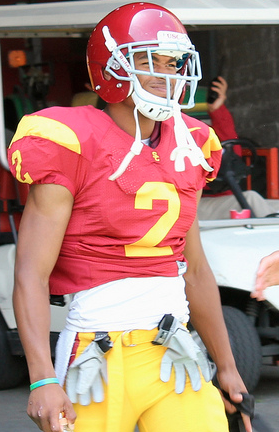 Woods caught 111 passes last season and served as the Trojans' primary kick and punt returner. (Shotgun Spratling/Neon Tommy)