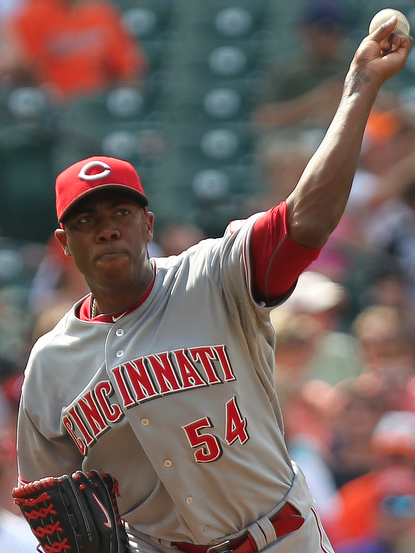 Aroldis Chapman has been as lights-out as can be in the closing role. (Keith Allison/Creative Commons)