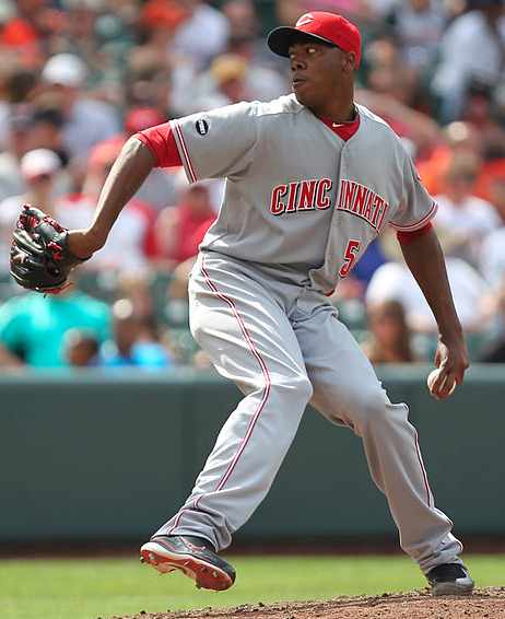 Dominant closer Aroldis Chapman was rendered a non-factor in the series. (Keith Allison/Creative Commons)