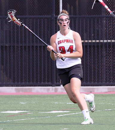 Louisville transfer Victoria Wilkinson leads the Panthers with 28 goals. (Larry Newman/Chapman Athletics)
