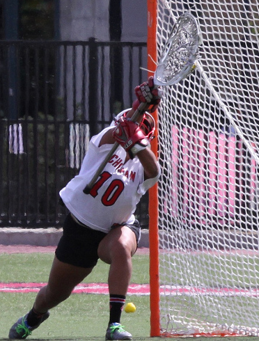 Anjali Thota has been a member of all but one of Chapman's official women's lacrosse's teams. (Larry Newman/Chapman Athletics)