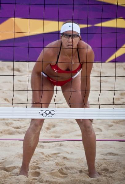 Misty May-Treanor and partner Kerri Walsh Jennings dropped just one set in London. (AlexGround/Creative Commons)