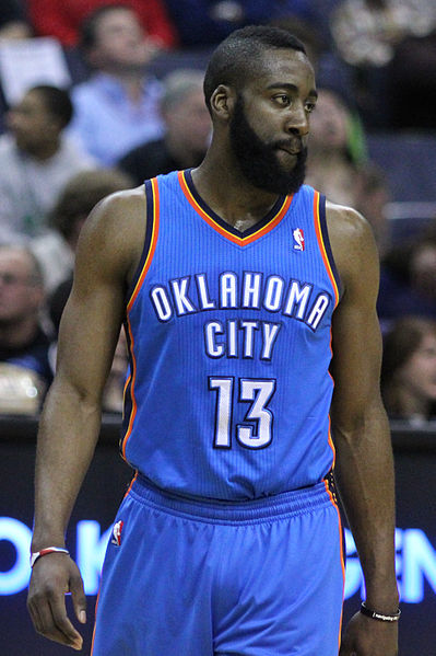 Thunder forward James Harden's battle with the Spurs' Manu Ginobili is one individual matchup that could decide the series (Keith Allison/Creative Commons)