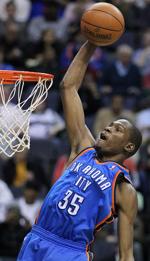 Thunder small forward Kevin Durant will attempt to lead his team past the L.A. Lakers in the Western Conference semifinals. (Keith Allison/Creative Commons)