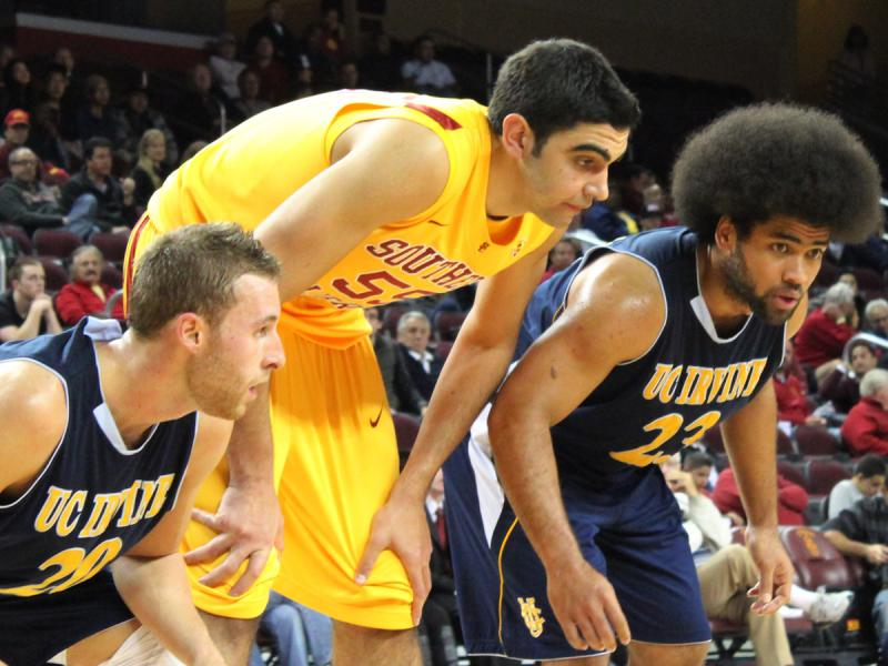 USC center Omar Oraby  middle   Uc Irvine Basketball