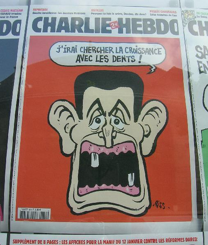 "Charlie Hebdo published the cartoons after days of violent protests against the film ""Innocence of Muslims."" (Creative Commons)"