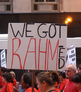 Mayor Rahm Emanuel vows legal action to end the week-old teachers strike. (firedoglakedotcom/Flickr)