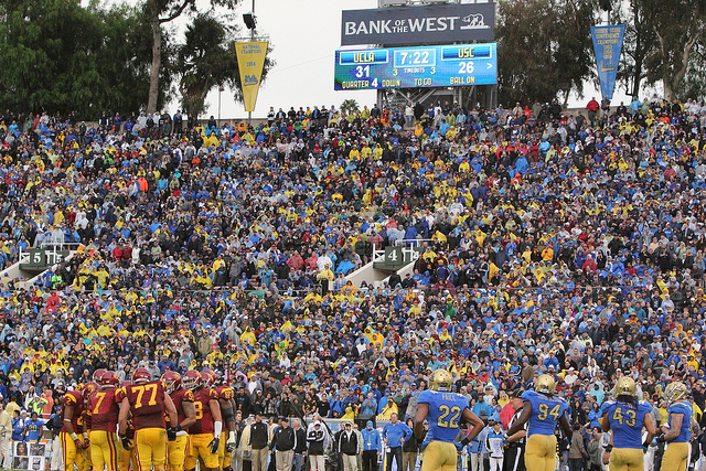 The Rose Bowl will be packed with fans from both schools. (James Santelli/Neon Tommy)