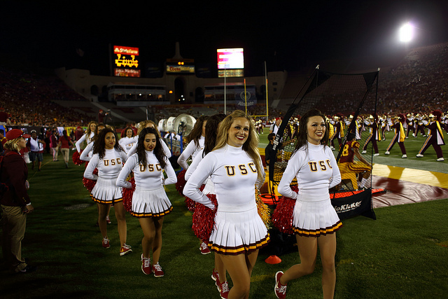 The Song Girls are the most iconic of USC's spirit squads. (Neon Tommy)