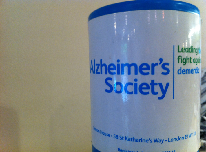 Alzheimer's Fundraising Jar (HowardLake/Flickr)