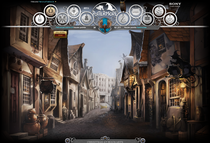 Diagon Alley, Pottermore