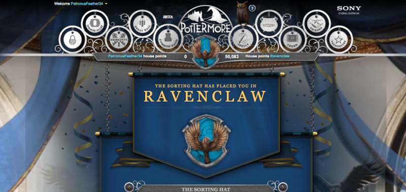how to change sorting in pottermore
