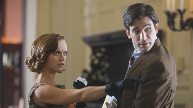 Christina Ricci as Maggie and Colin Donnell as Mike Ruskin in Pan Am, Sundays at 10. (Photo courtesy of ABC)