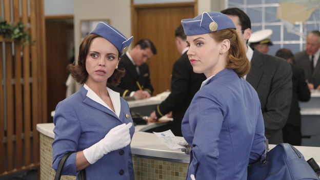 "Christina Ricci as Maggie and Kelli Garner as Kate in ""Pan Am"", ABC Sundays at 10. (Photo courtesy of ABC)"