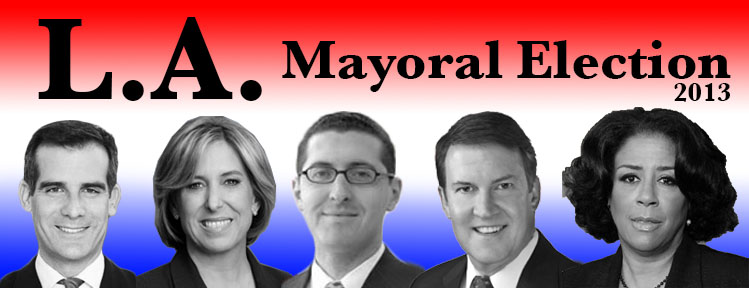 Eric Garcetti and Wendy Greuel move on to round two of the mayoral race. (Didi Beck/Neon Tommy)