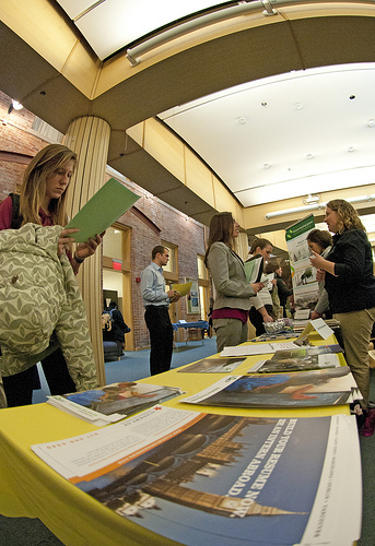 Career fairs like the one held at the University of Michigan in 2011 give job seekers some hope. (sure/Flickr)
