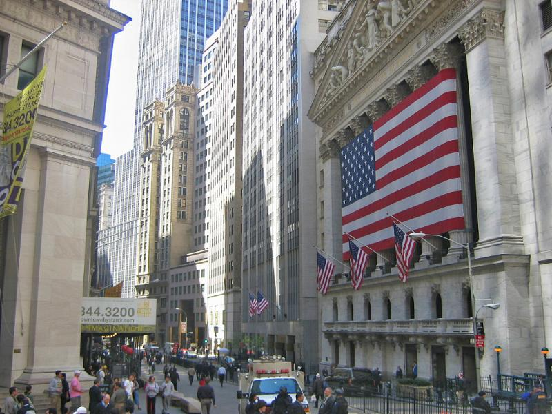 The New York Stock Exchange, which saw a selloff Tuesday (Wikimedia Commons)