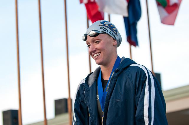 Dana Vollmer's gold-medal/world-record performance headlined Team USA's day (Creative Commons/jdlasica).