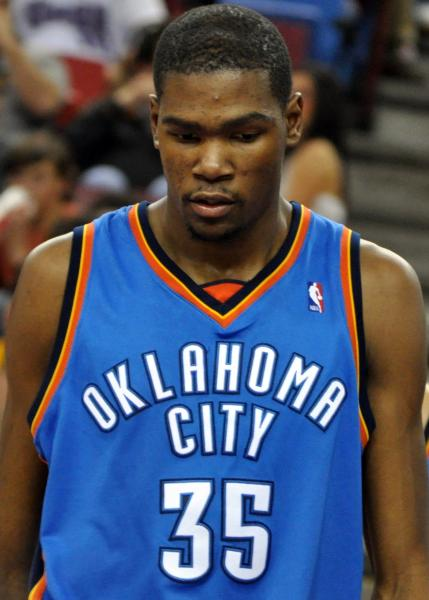 Kevin Durant leads an explosive Thunder offense into the Finals (Justin Smith/Wikimedia Commons).
