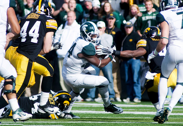 Look for Le'Veon Bell to have a big impact against the Fighting Irish (mattradickal/Creative Commons).