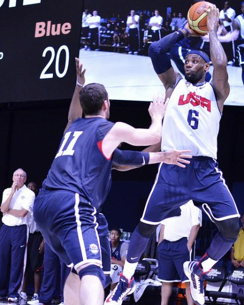 LeBron James and Team USA cruised to an easy win in their first game of London 2012 (Creative Commons/JoeGlo1).