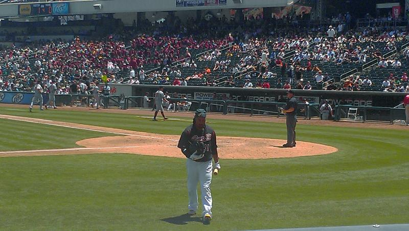 Manny Ramirez returns to the dugout following one of his three strikeouts (Will Robinson).